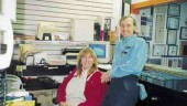 Dave Stoddard with his office assistant, Kimberly Knol