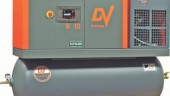 DV Systems' B10 Huron Single Phase rotary compressor can operate at 55 amps, making it ideal for smaller shops with limited power capacities.