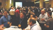 MACS convention attendees took a break from the business sessions to attend the popular social evening, complete with a nut-and-bolt matching game for prizes. More than 1,000 attended the tech session-heavy mobile air conditioning event.