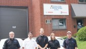 From left: Andre Toupin, Sales Representative, Fred Lapalme, Branch Manager  Vincent Doucet, Delivery Service; Valerie Roy, Warehouse Manager and Jonathan Levesque, Delivery Service