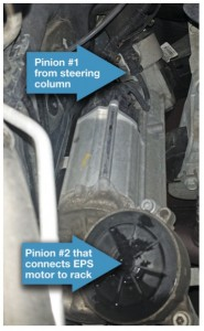 Second pinion design showing both pinion locations on a Chevy Cruze.