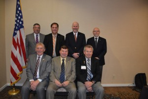 During its recent Annual Board Meeting, ASA elected its 2016-2017 Board of Directors. Back row, l-r: Roy Schnepper, AAM, chairman-elect; Donny Seyfer, AAM, chairman; Bill Moss, AAM, secretary/treasurer; Darrell Amberson, AAM, past chairman. Front row, l-r: Ed Cushman, AAM, general director; Bob Wills, AAM, Mechanical Division director; John Cochrane, general director. Not pictured: Scott Benavidez, AAM, Collision Division director.