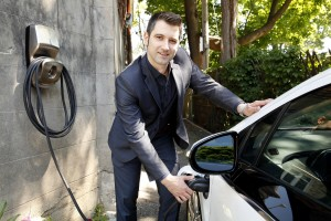 AddÉnergie launches FLO, the largest and most reliable electric vehicle charging network in Canada. Louis Tremblay, President and CEO of AddÉnergie, took the opportunity to introduce FLO Home™, a new service for residential charging. (CNW Group/AddÉnergie)