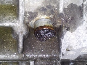 This is the PCV system on a Volvo, completely clogged with sludge.