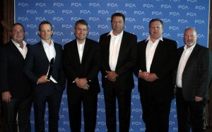 Individuals Pictured (left to right): Dan Ehde – OES Business Unit Director, Trico Products Corp. Bryan Musialowski – OES Account Manager, Trico Products Corp. Scott Thiele – Global Chief Purchasing Officer, FCA Chuck Bastedo – Account Manager, Trico Products Corp. Dave Parker – Executive Director OE Sales, Trico Products Corp. Bret Hardy – Director of Mopar Purchasing and Supplier Quality, FCA
