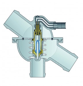 A mapped thermostat, in coolant housing (photo courtesy of Mahle).
