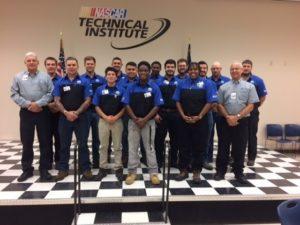 NASCAR Technical Institute's inaugural Mopar TEC class