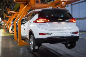 "Pre-production for the all-new 2017 Chevrolet Bolt EV is underway. Chevrolet Bolt EV engineers are working alongside GM's Orion Township, Mich. assembly plant workers to finalize testing of plant tools and processes in preparation for the for start of retail production at the end of this year. ""We're at another critical and important point in the development of the Bolt EV,"" said Josh Tavel, Bolt EV Chief Engineer. ""We've moved from working in math and building cars by hand to building Bolt EV's on the line. We're now testing the tooling used in the plant so that we deliver high quality 200-plus mile EV that our customers are eagerly anticipating."""